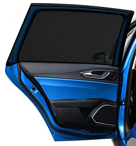 DIZA100 Auto Sonnenschutz für Kinder Baby Erwachsene Haustiere, 2 Stück Universal Sonnenblende Auto Netz mit UV Schutz/Blendschutz, Autofenster Sonnenschutzrollos...