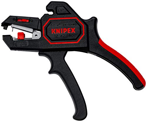 KNIPEX 12 62 180 Automatische Abisolierzange 180 mm, Schwarz