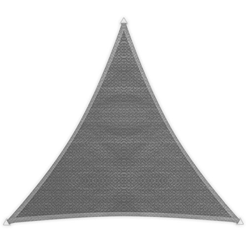 Windhager Sunsail ADRIA Dreieck Granit, Sonnensegel, Sonnenschutz, UV-Schutz, witterungsbeständig und atmungsaktiv, 3,6 x 3,6 m (gleichschenkelig), 10967