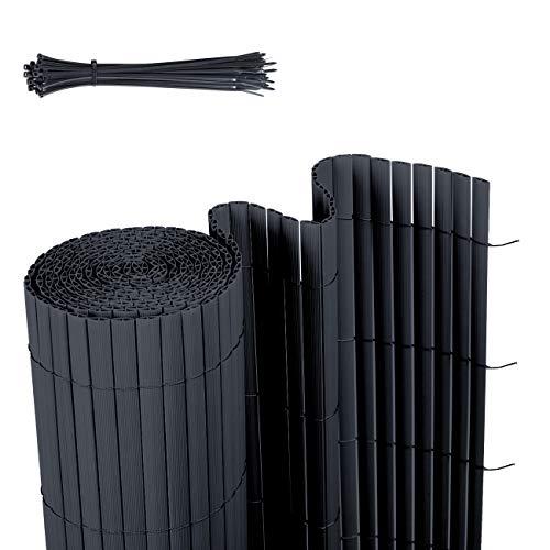 Sekey PVC Sichtschutzmatte Sichtschutzzaun Wetterfest Verstärkt Starke Privatsphäre für Garten, Balkon und Terrasse, mit Strukturierte Oberfläche, mit...