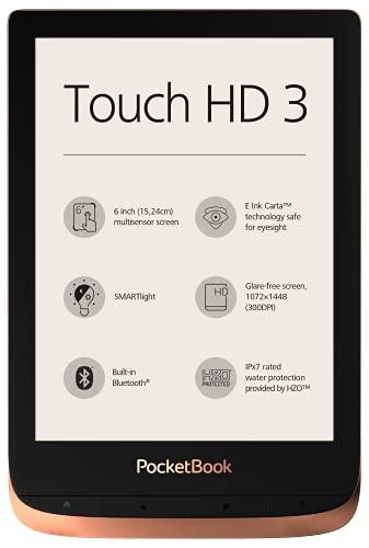 PocketBook e-Book Reader'Touch HD 3' (16 GB Speicher; 15,24 cm (6 Zoll) E-Ink Carta Display; SMARTlight; Wi-Fi; Bluetooth) in Kupfer