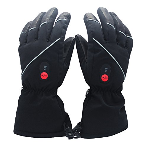 Savior heated gloves with rechargeable lithium-ion battery Heated for men and women, warm gloves for cycling, works up to 2,5--6 ...