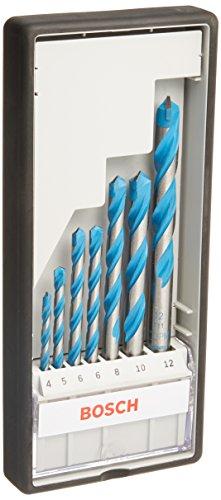 Bosch Professional 7tlg. Mehrzweck Bohrer Set CYL-9 (Multi Construction, Zubehör für Bohrmaschinen mit Rundschaftbohreraufnahme)