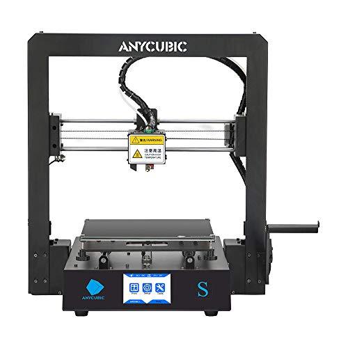 ANYCUBIC MEGA-S 3D Drucker mit Guter Qualität, neuem Extruder, Stabilen Vollmetall-Rahmen und Ultrabase Heizbett für 1,75 mm Filamente TPU, PLA, ABS geeignet...