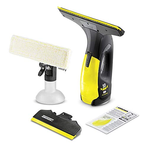 Kärcher Battery Window Vac WV 2 Premium Black Edition (Battery life: 35 min, 2x removable suction nozzles - wide and narrow, spray bottle with microfiber cover, ...