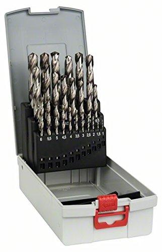 Bosch Professional 25tlg. ProBox Metallbohrer Set HSS-G (geschliffen, Zubehör Bohrschrauber und Bohrständer)