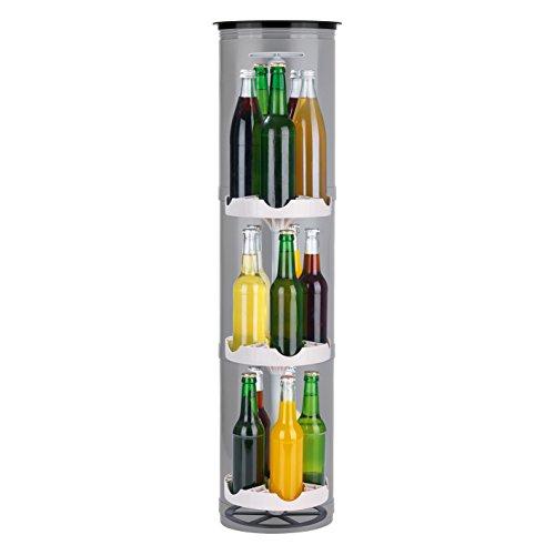EASYmaxx Flaschenkühler Outdoor | Der stromlose Kühlschrank für den Garten | Für Bier und andere Getränke, 3 Stellflächen für bis zu 15 Flaschen, speziell...
