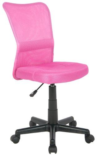 SixBros. Bürostuhl Drehstuhl Schreibtischstuhl Pink H-298F/1412