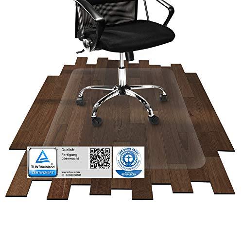 etm Bodenschutzmatte - 120x90cm | TÜV und Blauer Engel | transparent, für Laminat, Parkett, Fliesen und Hartböden
