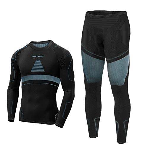 Nooyme thermal underwear men breathable and thermoactive functional underwear men functional underwear set and flexible ski underwear men warm ...