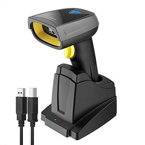 Inateck 2D Barcode Scanner Bluetooth, Wireless QR Code Scanner mit Intelligenter Ladestation, 2D Imager mit 2000 mAh Akku, 1 Ladung 30 Tagen Dauer, Bildschirm...