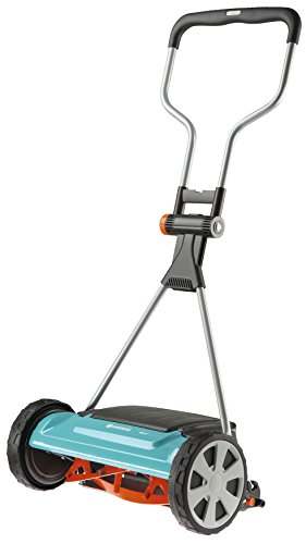 Gardena Comfort cylinder mower 400 C: hand lawn mower with 40 cm working width for up to 250 m² lawn area, knife roller made of quality steel, non-contact ...