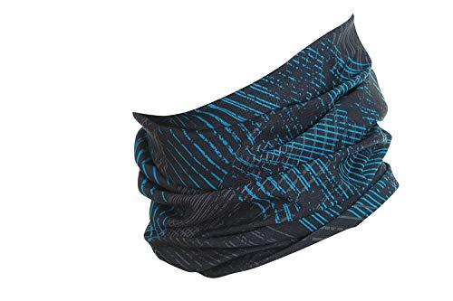 Hilltop Multifunktionstuch, Kopftuch, Motorrad-Halstuch, Bandana/TOP Farben, Farbe/Design:blau schwarz