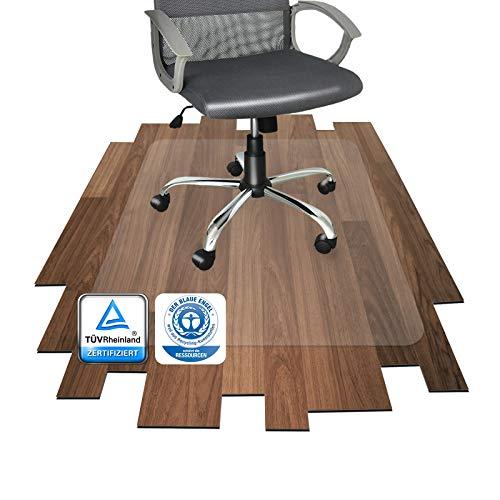 Floordirekt PRO - 16 Größen zur Wahl - Polycarbonat Bodenschutzmatte transparent mit TÜV für Hartböden (90x120 cm)