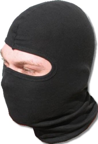 iapyx balaclava made of 100% cotton with panoramic field of view black