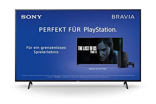 Sony KD-65XH8096 Bravia 164 cm (65 Zoll) Fernseher (Android TV, LED, 4K Ultra HD (UHD), High Dynamic Range (HDR), Smart TV, Sprachfernbedienung, 2020 Modell) Schwarz