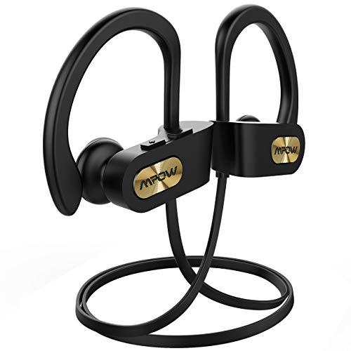 Mpow Flame Bluetooth Kopfhörer, IPX7 Wasserdicht Kopfhörer Sport, 7-10 Stunden Spielzeit/Bass+ Technologie, Sportkopfhörer Joggen/Laufen Bluetooth 4.1, In Ear...