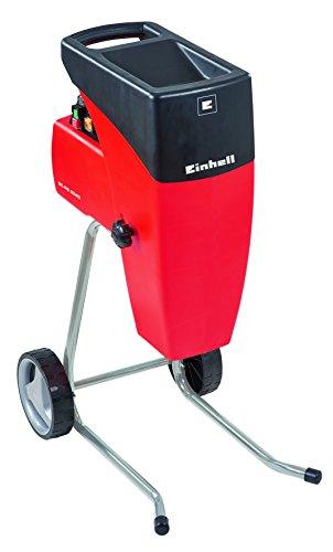 Einhell Elektro-Leisehäcksler GC-RS 2540 (2000 W, max. 40 mm Aststärke, Schneidwalze, Drehrichtungsumschalter, große Trichteröffnung, robustes Fahrgestell, inkl....