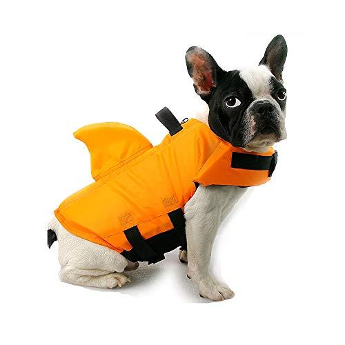 TOFOAN Hundeschwimmweste Hai, Hundeschwimmweste für kleine und mittelgroße Hunde, professionelle Rettungsweste für kaltes Wetter, ideal für Sicherheitsschwimmen,...