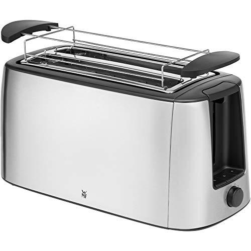 WMF Bueno Pro Toaster Langschlitz, 4er Toaser-Doppelschlitz, für 4 Toast- oder 2 Brotscheiben, XXL-Toast, Aufknusper-Funktion, 6 Bräunungsstufen, Brötchenaufsatz,...