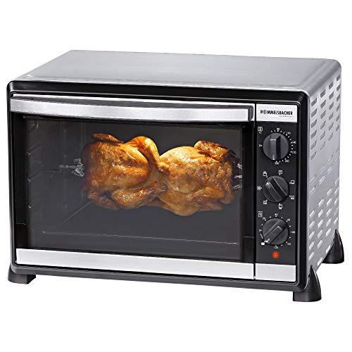 ROMMELSBACHER Back & Grill Ofen BG 1805/E - 42 Liter Backraum, 7 Heizarten, Umluft, Drehspieß, Temperaturen von 80 - 230 °C, Doppelverglasung, Innenbeleuchtung,...