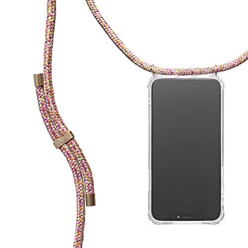 KNOK Handykette Kompatibel mitApple iPhone 7/8- Silikon Hülle mit Band - Handyhülle für Smartphone zum Umhängen - Transparent Case mit Schnur - Schutzhülle...