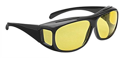 Wedo 27147599 Überzieh Nachtsichtbrille für Autofahrer, für Brillenträger, getönte polarisierende Gläser, gemäß ISO Norm, Hülle und Gebrauchsanleitung,...