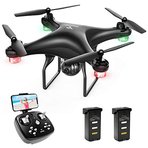 SNAPTAIN SP600 Drohne mit Kamera 720P HD Live Übertragung WiFi FPV RC Quadcopter,120° Weitwinkel, Hochhaltung, 3D VR, 360°Flips, Flugbahnflug, Kopflos Modus,...