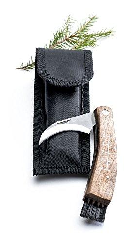 Sagaform 5017685 Pilzmesser im Segeltuchfutteral