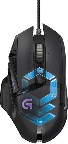 LogitechG502 ProteusSpectrum Gaming-Maus (mit RBG-Anpassung und 11programmierbaren Tasten, 200–12.000DPI)schwarz