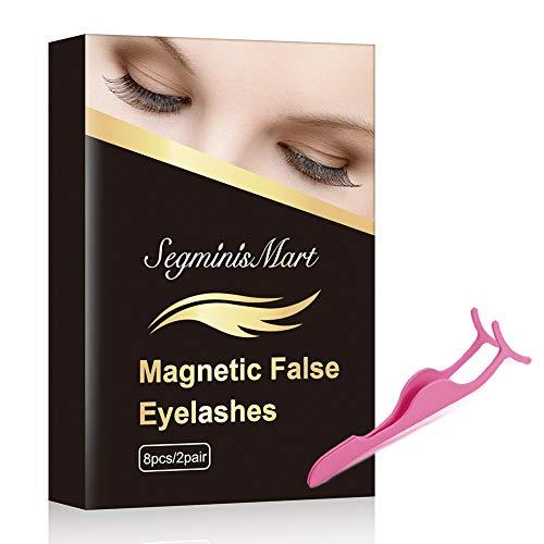 Magneettiset ripset, 3D-magneettiset keinotekoiset silmäripset, ei liimaa, uudelleenkäytettäviä vääriä magneettisia ripset