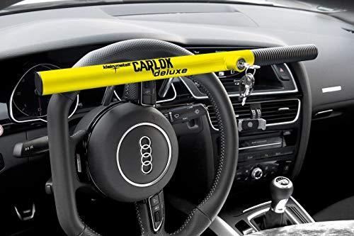 Kleinmetall Carlok Deluxe Auto Diebstahlsicherung Lenkradkralle Absperrstange (gelb)