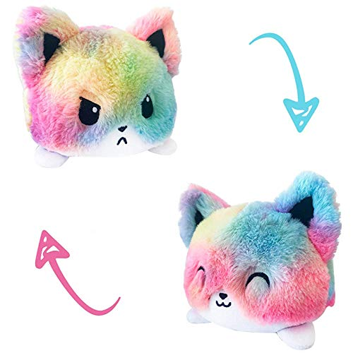 Reversible Plush Toy,Reversible Plushie,Cute Plush Toys,Double-Sided Reversible Expressions Plushie Doll Plush Gifts, Mini Plush Toy, Angry and Surprise Reversible...