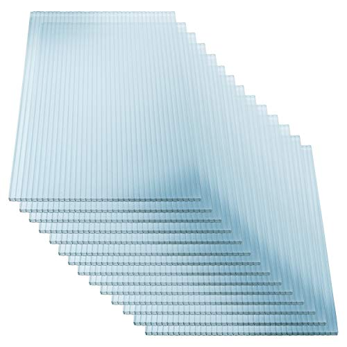 KAISER PLASTIC® Xtra-Strong | Gewächshausplatten 14 STK. | Polycarbonat (PC) Doppelstegplatte - Hohlkammerplatte | Gewicht 800g/m² | 1500 x 700 mm - 4mm Stärke |...