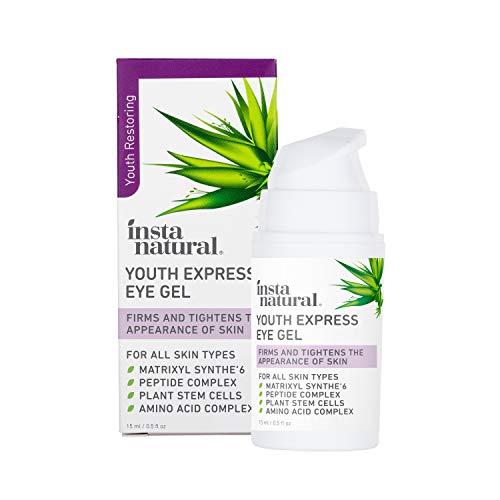 InstaNatural Eye Gel Cream - vähentää ryppyjä, tummia ympyröitä, viivoja ja punoitusta - puhdas ja orgaaninen anti-vanheneminen hyaluronihapolla hänelle ja hänelle. For ...