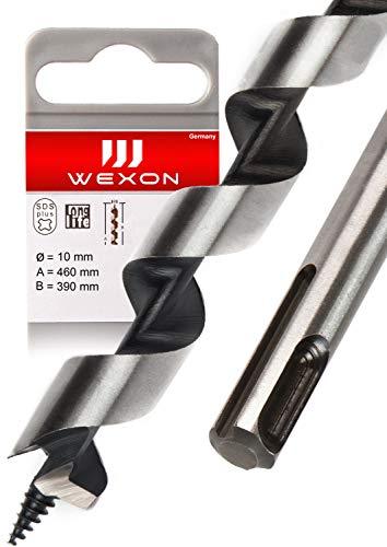 SDS Plus Schlangenbohrer 10mm x 460 - Extra Lang - Holzspiralbohrer - kompatibel mit Bosch Hilti Makita Metabo - Premium Qualität - Type Lewis Holzbohrer für...
