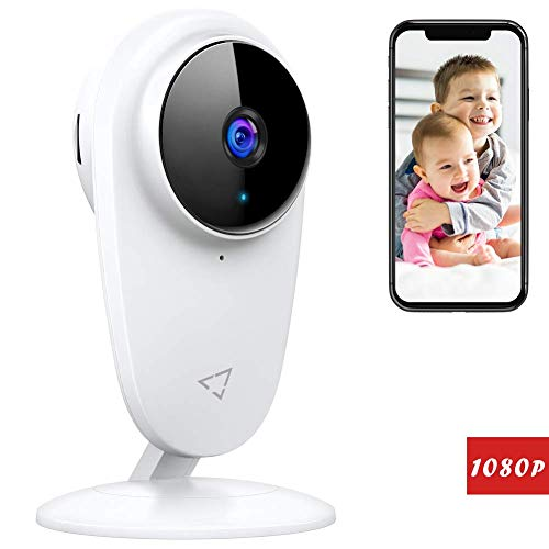 Victure 1080P Baby Monitor with Camera, Baby Monitor 2.4G Wireless Camera Surveillance Camera Motion Detection with Night Vision 2 Lanes Audio Available Monitor ...