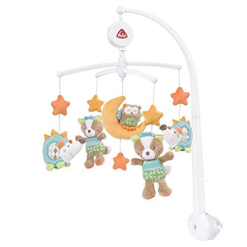 Fehn 071214 Musik-Mobile Forest – Spieluhr-Mobile mit niedlichen Bewohnern des Waldes zum Lauschen & Staunen – Zum Befestigen am Bett für Babys von 0-5 Monaten...
