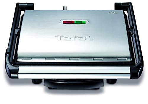 Tefal Kontaktgrill Inicio GC241D [Elektrogrill / Sandwichtoaster; fettarmes Grillen; Panini, Toasts, Steak, Gemüse und mehr; antihaftbeschichtete gerillte...