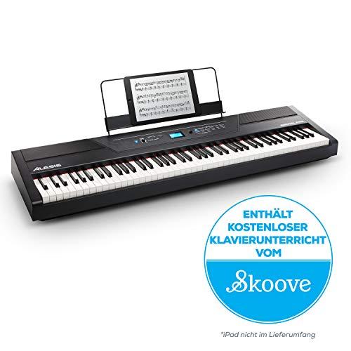 Alesis Recital Pro - Digital Piano / E Klavier mit 88 Hammer-Action-Tasten, 12 Premium-Voices, zwei integrierten 20 Watt Lautsprechern, Kopfhörerausgang und...