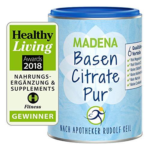 MADENA BasenCitrate Pure apteekkarin Rudolf Keilin mukaan Pohjajauhe 216g tölkki | Alkuperäinen 100% orgaanisilla emäksillä Paljon magnesiumsitraattia, sinkkiä, kaliumia, ...