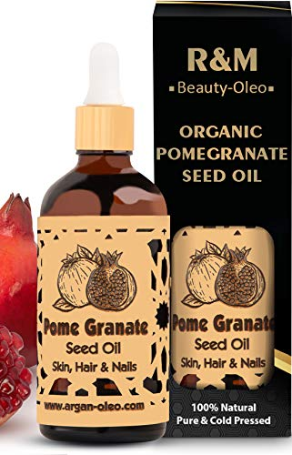R&M Organic Pomegranate Seed Oil - Premium cold-pressed pomegranate oil for the face and much more - Fights acne and hair loss and improves the complexion -...