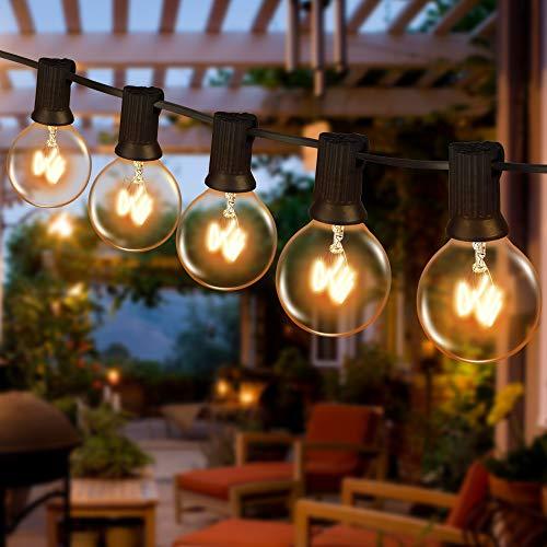 Lichterkette Außen Wasserdicht, Lichterkette Glühbirnen G40 12M 30er Globe Birnen mit 5 Ersatzbirnen, Lichterkette Glühbirnen Außen Strom, Lichterkette Garten...