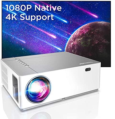 Bomaker Beamer Full HD 4K, Native 1080P 7200 Beamer, 3D+5D Heimkino Beamer mit ±50°Elektronische Korrektur, 130.000 Stunden, unterstützt TV Stick, dual HDMI,...