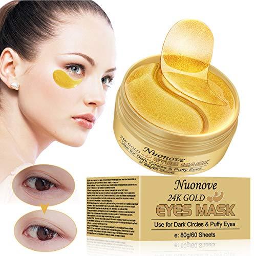 Augenpads Augenringe, Augenpads, Eye Mask, Collagen Augenpads, 24k Gold Kollagen Augenmaske, Hydra-Gel Hauttherapie Eye Pads, Anti-age Eye Maske, Augenmasken Gegen...