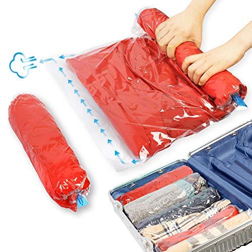 12er Reise Vakuumbeutel, Kompressionsbeutel für Kleidung,spart platz für koffer, 4er 50*70+ 8er 40*60cm (12er Sets)
