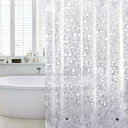WELTRXE Duschvorhang Anti-Schimmel mit Gewicht Magnet unten, 0.2mm [183x200cm] Wasserdicht Antibakteriell Eva Vorhang für Dusche und Badewanne für Kinder, 3D...