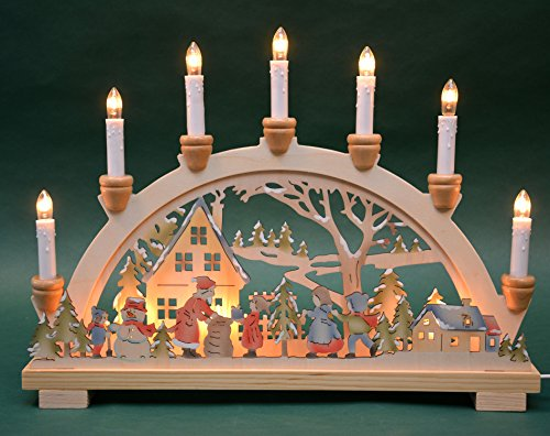 Candle arch candle arch 'gift' 10 lights inside colored Christmas Advent gift decoration (10792)