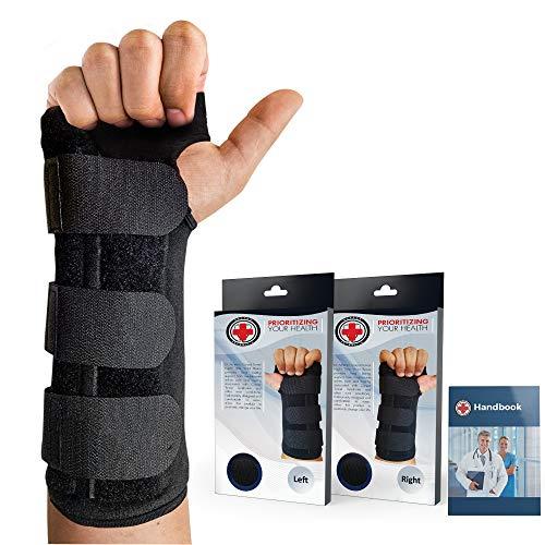 Dr. Arthritis - Handgelenkschiene inkl. Handbuch vom Arzt - Handgelenkschoner Mit Robuster Metallschiene - Handgelenkstütze Passend Für Jede Hand -...