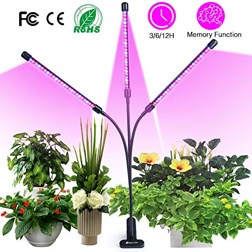 semai Pflanzenlampe LED 30W Pflanzenlicht Pflanzenleuchte Wachstumslampe Wachsen licht Grow Lampe Vollspektrum für Zimmerpflanzen mit Zeitschaltuhr, 3 Arten von...